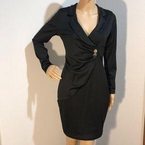👠 NEW Women's Black Long Sleeve Career Dress